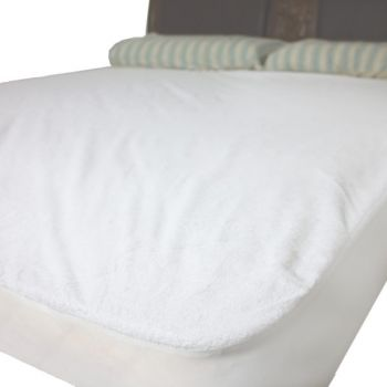 Washable Reusable Terry Incontinence Waterproof Mattress protector cover(Double)