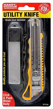 Utility Knife With Three Refill Blades