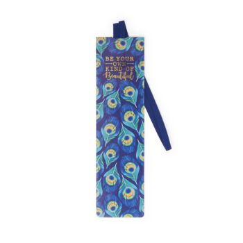 Bookmark With Elastic Band - Peacock