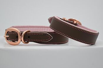 Dusty Pink Leather Collar