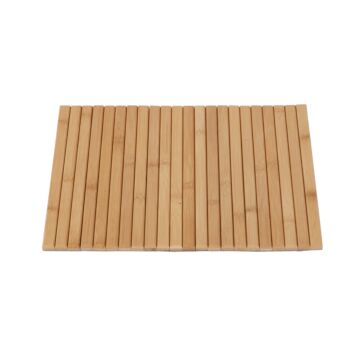 Sherwood Home Flexible Bamboo Sofa Armrest Tray with Non-Slip Base Natural 42x33.5x1.2cm