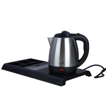 Dolphy Stainless Steel Kettle with Tray - 1.2 Ltr