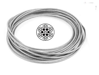 2.0mm 7x7 G316 Clear Coated Stainless Steel Wire Rope
