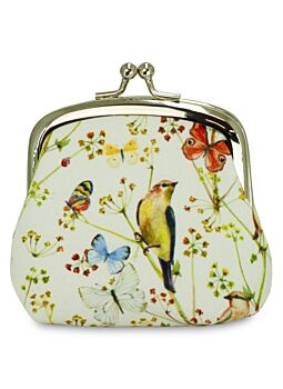 Beautiful Cloth Covered and Lined Coin Purse Nature Park