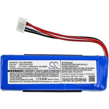 GSP1029102A Battery for JBL Charge 3 2016 Portable Bluetooth Speaker