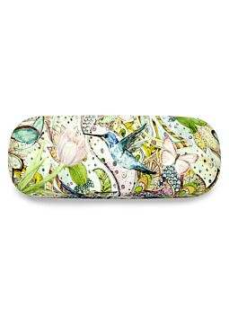 Beautiful Cloth Covered & Lined Glasses Case Humming Bird
