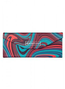 Beautifuly Abstract PU Trifold compact Glasses Case Abstract Green Red