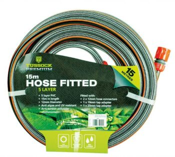 Premium Garden Hose 5 Layer 15 Mtr With Connections