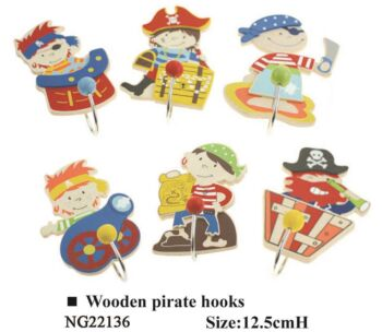 WOODEN PIRATE HOOKS