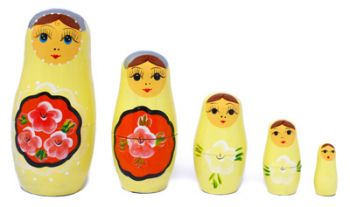Wooden nesting doll 5pc