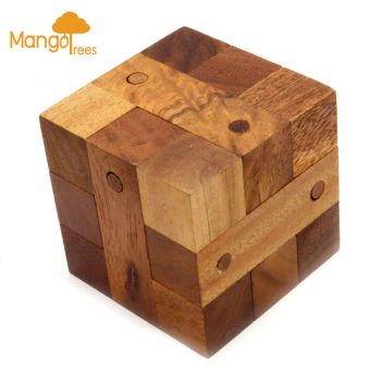 """MANGO TREES """"The Original Locking Puzzle""""-Wood Wooden 3D Brain Teaser Puzzles Cl"""
