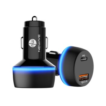 NEWAVE 2 Port Dual USB 48W Car Charger Adapter