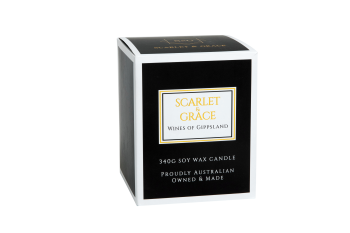 Scarlet & Grace 340G Soy Wax Candle - Wines of Gippsland Fragrance
