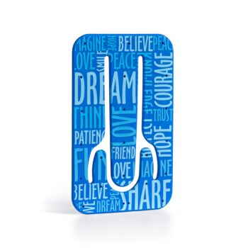 Flexistand - Plastic Phone Stand - Blue Words