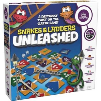The Happy Puzzle Company Snakes and Ladders Unleashed Board Game