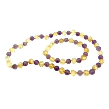 BALTIC AMBER and GEMSTONE necklaces