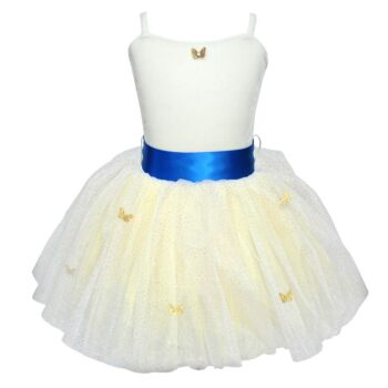 Poppins Butterfly Dress Size 3/4-White
