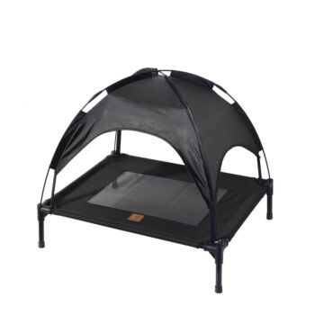 Charlie's Pet Elevated Bed with Tent - Black