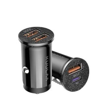 High Power Dual USB + Type-C port car charger