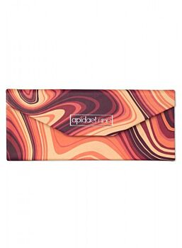Beautifuly Abstract PU Trifold compact Glasses Case Abstract Orange Yellow