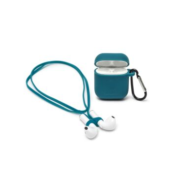 Air'n Go - Case and Cord Set for Airpods - Petrol Blue