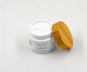 Magnesium Lotion Lemon Myrtle with Mountain Pepperberry and Chamomile Extract - 50ml Biodigradable Jar!