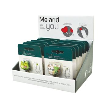 Me & You - 3.5mm Headphone Audio Splitter - Display Pack of 14 Pieces - 7 styles