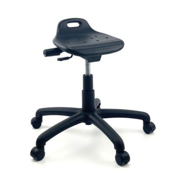 CURRIE Sit-Stand Office Lab Stool Nylon Base