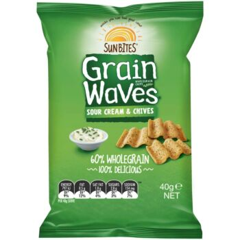 Chips Grain Waves Sour Cream & Chives 18 X 40G