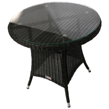 NIDDRIE - Outdoor Wicker 80cm Round Coffee Table