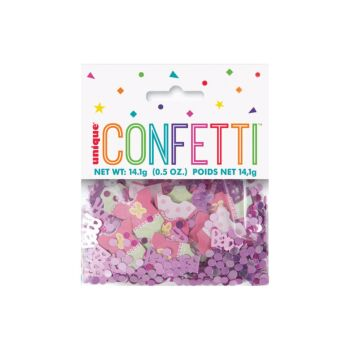 Pink Dots Baby Shower Confetti