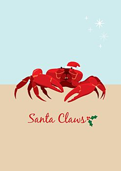Christmas Card - Red Crab
