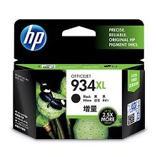 HP No. 934XL Black Ink Cartridge - Estimated Page Yield 1000 pages - C2P23AA