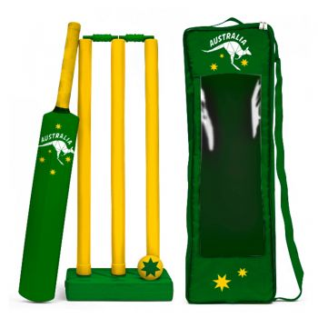 AUSTRALIA DAY CRICKET SET GREEN AND GOLD
