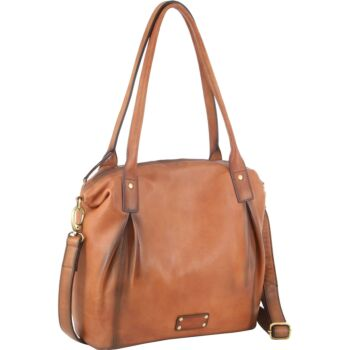 Pierre Cardin Burnished Leather Tote Bag