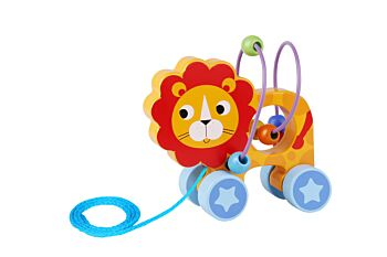 BEADS PULL ALONG-LION