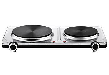 TODO 2250W Twin Hotplate Electric Cooktop Dual Plate Stainless Steel