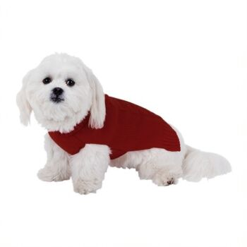 Dog Sweater Cable Boy - 50cm, 3 x Assorted Colours Navy/Burgandy/Grey