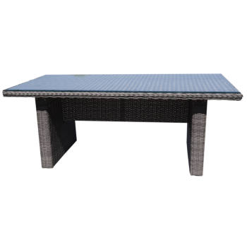 ALPHINGTON - Outdoor Wicker Large Rectangle Dining Table