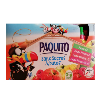 Paquito Fruit Pouches (No Added Sugar) 12x90g