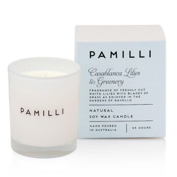 Italia Natural Soy Candle - Casablanca Lilies & Greenery