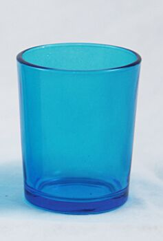 24 Pack - Turquoise Blue Shot Glass Cup Tealight Votive Candle Holder 6.5cm