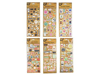PUFFY STICKERS - 5 x ASSORTED DESIGNS