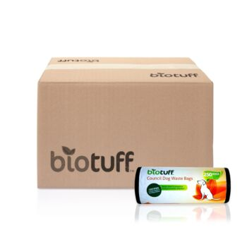 Biotuff compostable Council dog waste bags