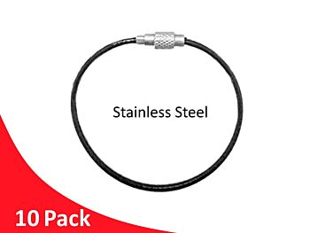 Tag Wire Black Coated 1.5mm 200mm G316 Stainless Steel