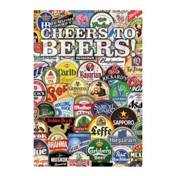Cheers To Beers Tin Sign