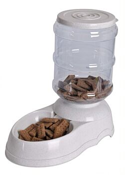 Pet Food Feeder - 11L With White Speckle Base