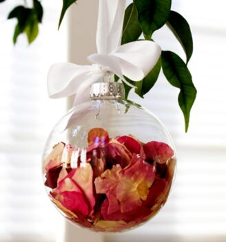 20 Pack - 10cm glass large bauble table tree centrepice craft market sale personal theme advent message