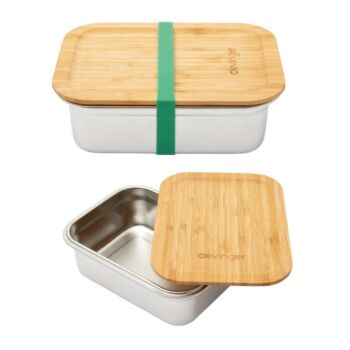 Clevinger Stainless Steel Bamboo Large Lunch Box 1200ml