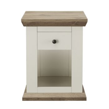 Hannah Cottage Style Bedside Table With Drawers 45 x H58cm Nightstand WHITE Night Table